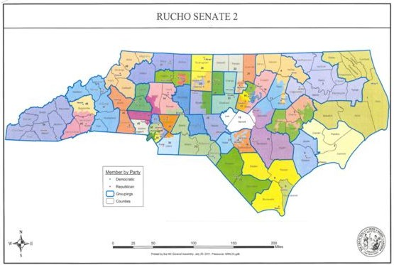2011 Proposed NC Senate Districts