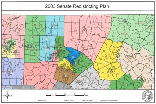 2003 Senate Redistricting Plan